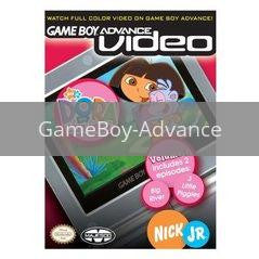 Image of Dora the Explorer Volume 1 original video game for GameBoy Advance classic game system. Rocket City Arcade, Huntsville Al. We ship used video games Nationwide