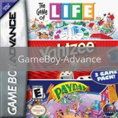 Image of Life/Yahtzee/Payday original video game for GameBoy Advance classic game system. Rocket City Arcade, Huntsville Al. We ship used video games Nationwide