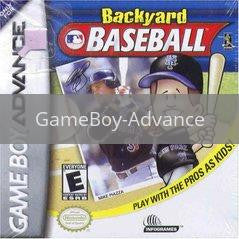 Image of Backyard Baseball original video game for GameBoy Advance classic game system. Rocket City Arcade, Huntsville Al. We ship used video games Nationwide