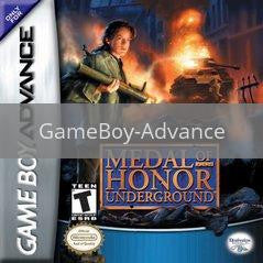 Image of Medal of Honor Underground original video game for GameBoy Advance classic game system. Rocket City Arcade, Huntsville Al. We ship used video games Nationwide