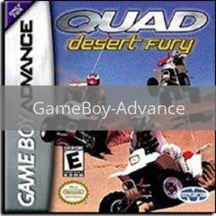 Image of Quad Desert Fury original video game for GameBoy Advance classic game system. Rocket City Arcade, Huntsville Al. We ship used video games Nationwide