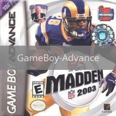 Image of Madden 2003 original video game for GameBoy Advance classic game system. Rocket City Arcade, Huntsville Al. We ship used video games Nationwide