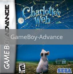 Image of Charlotte's Web original video game for GameBoy Advance classic game system. Rocket City Arcade, Huntsville Al. We ship used video games Nationwide