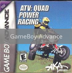 Image of ATV Quad Power Racing original video game for GameBoy Advance classic game system. Rocket City Arcade, Huntsville Al. We ship used video games Nationwide
