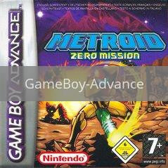 Image of Metroid Zero Mission original video game for GameBoy Advance classic game system. Rocket City Arcade, Huntsville Al. We ship used video games Nationwide