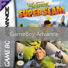 Image of Shrek Superslam original video game for GameBoy Advance classic game system. Rocket City Arcade, Huntsville Al. We ship used video games Nationwide