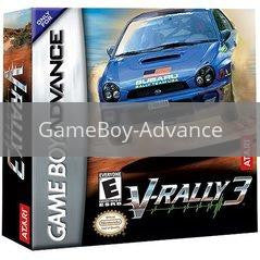 Image of V-Rally 3 original video game for GameBoy Advance classic game system. Rocket City Arcade, Huntsville Al. We ship used video games Nationwide