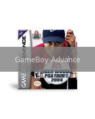 Image of Tiger Woods 2004 original video game for GameBoy Advance classic game system. Rocket City Arcade, Huntsville Al. We ship used video games Nationwide