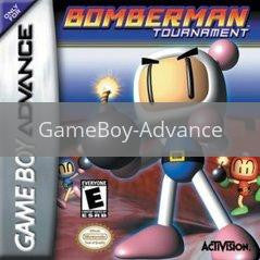 Image of Bomberman Tournament original video game for GameBoy Advance classic game system. Rocket City Arcade, Huntsville Al. We ship used video games Nationwide