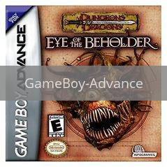 Image of Dungeons & Dragons Eye of the Beholder original video game for GameBoy Advance classic game system. Rocket City Arcade, Huntsville Al. We ship used video games Nationwide