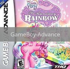 Image of My Little Pony Runaway Rainbow original video game for GameBoy Advance classic game system. Rocket City Arcade, Huntsville Al. We ship used video games Nationwide