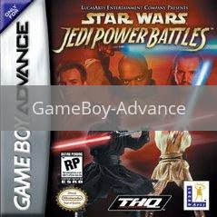 Image of Star Wars Episode I Jedi Power Battles original video game for GameBoy Advance classic game system. Rocket City Arcade, Huntsville Al. We ship used video games Nationwide