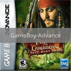 Image of Pirates of the Caribbean Dead Mans Chest original video game for GameBoy Advance classic game system. Rocket City Arcade, Huntsville Al. We ship used video games Nationwide