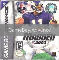 Image of Madden 2002 original video game for GameBoy Advance classic game system. Rocket City Arcade, Huntsville Al. We ship used video games Nationwide