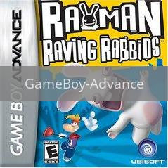 Image of Rayman Raving Rabbids original video game for GameBoy Advance classic game system. Rocket City Arcade, Huntsville Al. We ship used video games Nationwide