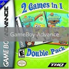 Image of SpongeBob SquarePants Dual Pack original video game for GameBoy Advance classic game system. Rocket City Arcade, Huntsville Al. We ship used video games Nationwide