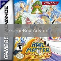 Image of Rave Master Special Attack Force original video game for GameBoy Advance classic game system. Rocket City Arcade, Huntsville Al. We ship used video games Nationwide