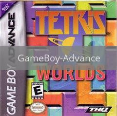 Image of Tetris Worlds original video game for GameBoy Advance classic game system. Rocket City Arcade, Huntsville Al. We ship used video games Nationwide
