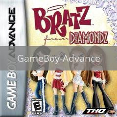 Image of Bratz Forever Diamondz original video game for GameBoy Advance classic game system. Rocket City Arcade, Huntsville Al. We ship used video games Nationwide