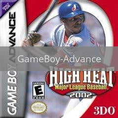 Image of High Heat Baseball 2002 original video game for GameBoy Advance classic game system. Rocket City Arcade, Huntsville Al. We ship used video games Nationwide