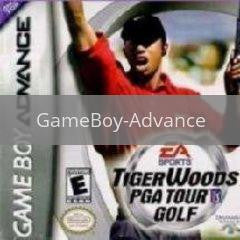 Image of Tiger Woods PGA Golf original video game for GameBoy Advance classic game system. Rocket City Arcade, Huntsville Al. We ship used video games Nationwide