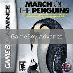 Image of March of the Penguins original video game for GameBoy Advance classic game system. Rocket City Arcade, Huntsville Al. We ship used video games Nationwide