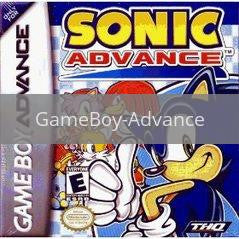 Image of Sonic Advance original video game for GameBoy Advance classic game system. Rocket City Arcade, Huntsville Al. We ship used video games Nationwide