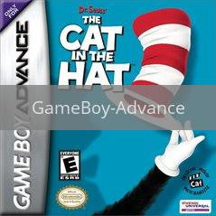 Image of The Cat in the Hat original video game for GameBoy Advance classic game system. Rocket City Arcade, Huntsville Al. We ship used video games Nationwide
