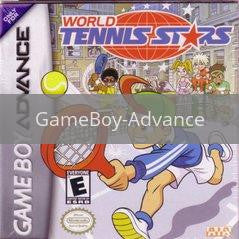 Image of World Tennis Stars original video game for GameBoy Advance classic game system. Rocket City Arcade, Huntsville Al. We ship used video games Nationwide