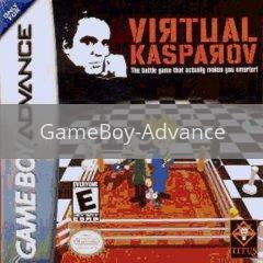 Image of Virtual Kasparov original video game for GameBoy Advance classic game system. Rocket City Arcade, Huntsville Al. We ship used video games Nationwide