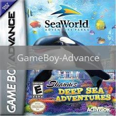 Image of Shamu's Deep Sea Adventure original video game for GameBoy Advance classic game system. Rocket City Arcade, Huntsville Al. We ship used video games Nationwide