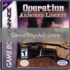 Image of Operation Armored Liberty original video game for GameBoy Advance classic game system. Rocket City Arcade, Huntsville Al. We ship used video games Nationwide
