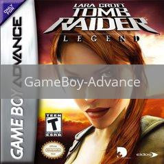 Image of Tomb Raider Legend original video game for GameBoy Advance classic game system. Rocket City Arcade, Huntsville Al. We ship used video games Nationwide