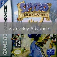 Image of Spyro Attack of the Rhynocs original video game for GameBoy Advance classic game system. Rocket City Arcade, Huntsville Al. We ship used video games Nationwide