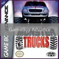 Image of Monster Trucks original video game for GameBoy Advance classic game system. Rocket City Arcade, Huntsville Al. We ship used video games Nationwide