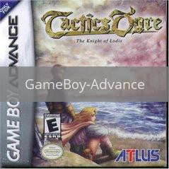 Image of Tactics Ogre original video game for GameBoy Advance classic game system. Rocket City Arcade, Huntsville Al. We ship used video games Nationwide