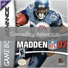 Image of Madden 2007 original video game for GameBoy Advance classic game system. Rocket City Arcade, Huntsville Al. We ship used video games Nationwide