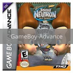 Image of Jimmy Neutron vs Jimmy Negatron original video game for GameBoy Advance classic game system. Rocket City Arcade, Huntsville Al. We ship used video games Nationwide