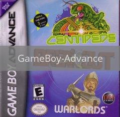 Image of Centipede Breakout and Warlords original video game for GameBoy Advance classic game system. Rocket City Arcade, Huntsville Al. We ship used video games Nationwide