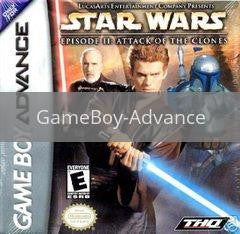 Image of Star Wars Attack of the Clones original video game for GameBoy Advance classic game system. Rocket City Arcade, Huntsville Al. We ship used video games Nationwide