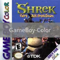 Image of Shrek Fairy Tales Freakdown original video game for GameBoy Color classic game system. Rocket City Arcade, Huntsville Al. We ship used video games Nationwide