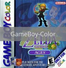 Image of Zelda Oracle of Ages original video game for GameBoy Color classic game system. Rocket City Arcade, Huntsville Al. We ship used video games Nationwide