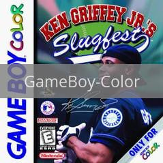 Image of Ken Griffey Jr Slugfest original video game for GameBoy Color classic game system. Rocket City Arcade, Huntsville Al. We ship used video games Nationwide