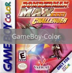 Image of Bomberman Max Red Challenger original video game for GameBoy Color classic game system. Rocket City Arcade, Huntsville Al. We ship used video games Nationwide