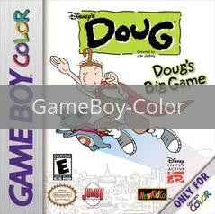 Image of Doug's Big Game original video game for GameBoy Color classic game system. Rocket City Arcade, Huntsville Al. We ship used video games Nationwide