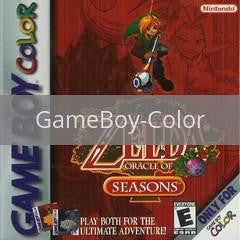 Image of Zelda Oracle of Seasons original video game for GameBoy Color classic game system. Rocket City Arcade, Huntsville Al. We ship used video games Nationwide