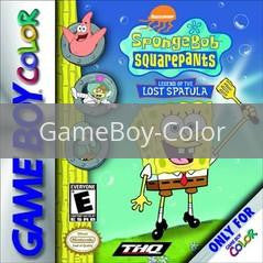 Image of SpongeBob SquarePants Legend of the Lost Spatula original video game for GameBoy Color classic game system. Rocket City Arcade, Huntsville Al. We ship used video games Nationwide