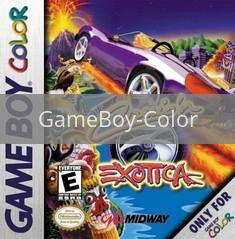 Image of Cruis'n Exotica original video game for GameBoy Color classic game system. Rocket City Arcade, Huntsville Al. We ship used video games Nationwide