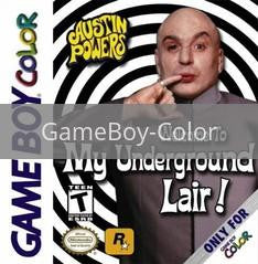 Image of Austin Powers Welcome to my Underground Lair original video game for GameBoy Color classic game system. Rocket City Arcade, Huntsville Al. We ship used video games Nationwide