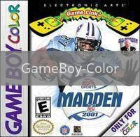 Image of Madden 2001 original video game for GameBoy Color classic game system. Rocket City Arcade, Huntsville Al. We ship used video games Nationwide